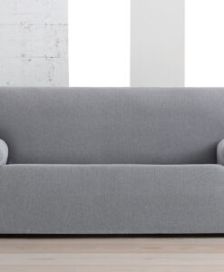 Elastický potah na sedačku - trojkřeslo Creta bíločerný 180- 230 cm bílá  - potahy od Bonatex