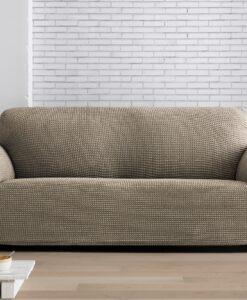 Napínací potah na sedačku - dvojkřeslo Milos béžový 130-180 cm béžová  - potahy od Bonatex
