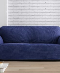 Napínací potah na sedačku - dvojkřeslo Milos modrý 130-180 cm modrá  - potahy od Bonatex