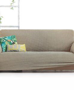 Elastický potah na sedačku - trojkřeslo Milos béžový 180- 230 cm béžová  - potahy od Bonatex