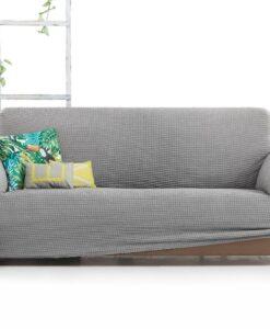 Elastický potah na sedačku - trojkřeslo Milos světle šedý 180- 230 cm šedá  - potahy od Bonatex