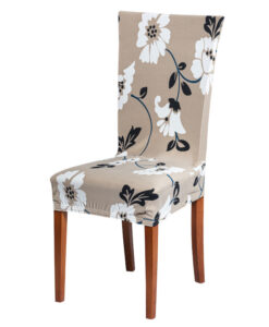 Potah na židli s potiskem  - Natahovací elastický potah