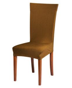 Potah na židli hnědý  - Natahovací elastický potah
