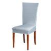 Potah na židli světle šedý  - Natahovací elastický potah