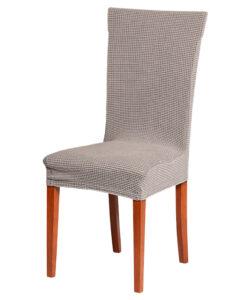 Potah na židli manšestr světle šedý  - Natahovací elastický potah