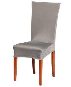 Potah na židli šedý  - Natahovací elastický potah