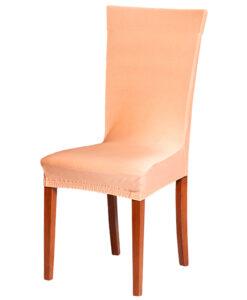 Potah na židli meruňkový  - Natahovací elastický potah
