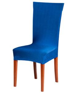Potah na židli modrý  - Natahovací elastický potah