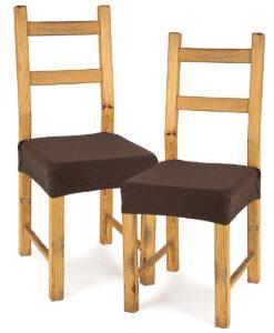 potah na sedák na židli Comfort hnědá