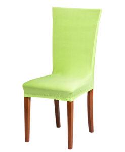 Potah na židli světle zelený  - Natahovací elastický potah