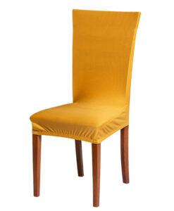 Potah na židli hořčicový  - Natahovací elastický potah