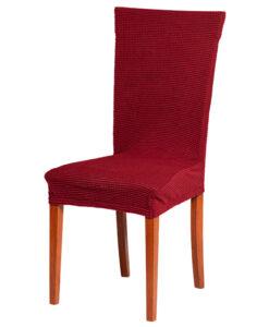 Potah na židli manšestr vínový  - Natahovací elastický potah