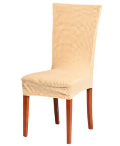 Potah na židli manšestr béžový  - Natahovací elastický potah