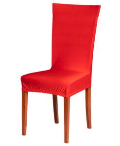 Potah na židli červený  - Natahovací elastický potah