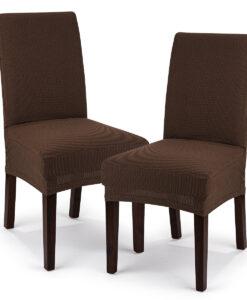 potah na židli Comfort hnědá